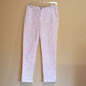 Tommy HilfigerVintagewhite pants with navy anchors